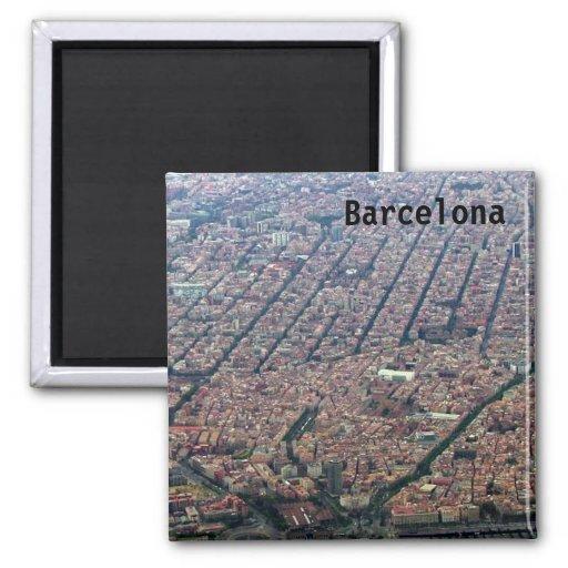 Barcelona Aerial Fridge Magnets