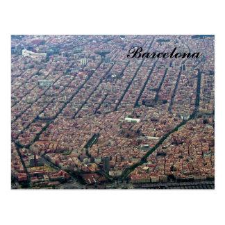 Barcelona Aerial Post Card