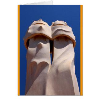 Barcelona, Antoni Gaudi's Chimney Tops Card