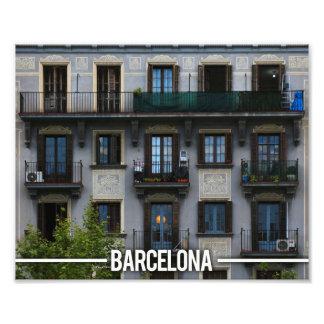 Barcelona Apartments Architectural, Spain Photo Print