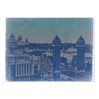Barcelona City Center Square Card