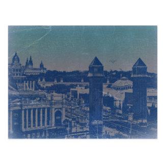 Barcelona City Center Square Postcard