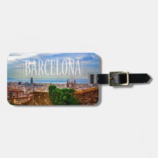 Barcelona city bag tags