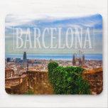Barcelona city mouse pad