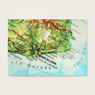 Barcelona City Pin Map Business Card