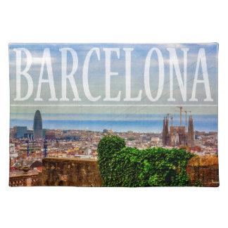 Barcelona city cloth placemat