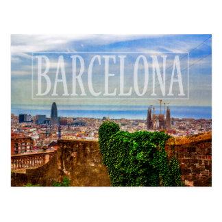 Barcelona city postcard