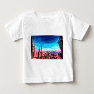 Barcelona City View And Sagrada Familia Baby T-Shirt