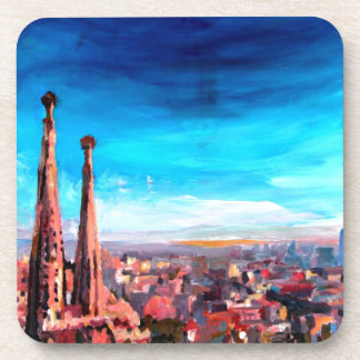 Barcelona City View And Sagrada Familia Coaster