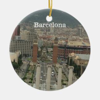 Barcelona City View Ceramic Ornament