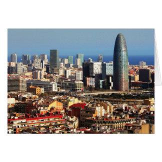 Barcelona cityscape greeting card