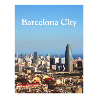 Barcelona cityscape flyer
