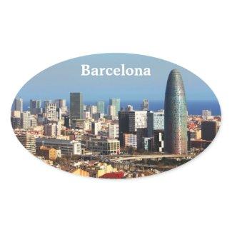 Barcelona cityscape sticker