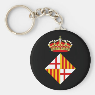 Barcelona Coat Of Arms Keychain
