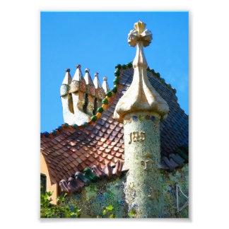 Barcelona, detalle de la arquitectura de Gaudi Fotografía
