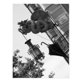 Barcelona Dragon Postcard