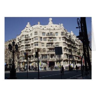 Barcelona, España, Gaudi, tarjeta de felicitación