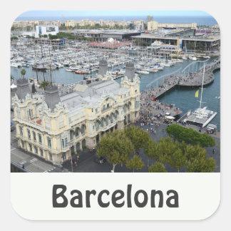 Barcelona, España Pegatinas Cuadradases
