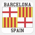 Barcelona España Pegatina Cuadrada