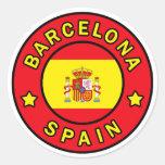 Barcelona España Pegatina Redonda