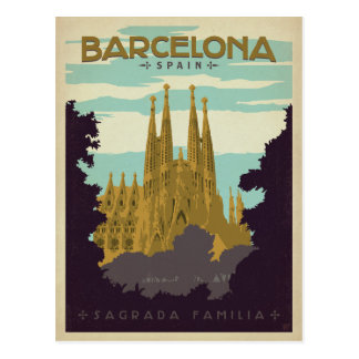 Barcelona, España - Sagrada Familia Tarjeta Postal