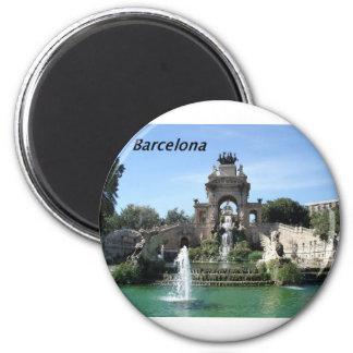 Barcelona--fountain--barc--[kan.k].JPG 2 Inch Round Magnet