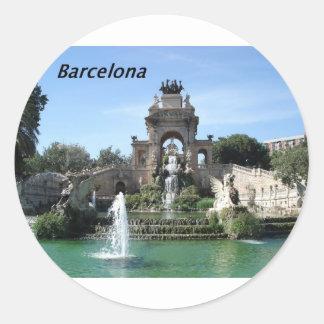 Barcelona--fountain--barc--[kan.k].JPG Classic Round Sticker