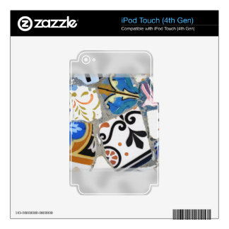 Barcelona Gaudi Mosaics Close Up Skins For iPod Touch 4G