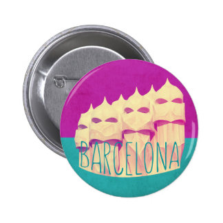 Barcelona Gaudi Paradise 2 Inch Round Button