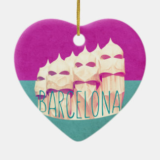 Barcelona Gaudi Paradise Ceramic Ornament