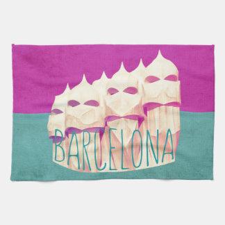 Barcelona Gaudi Paradise Hand Towel