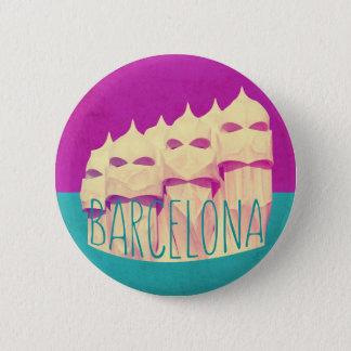 Barcelona Gaudi Paradise Pinback Button