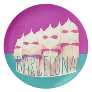 Barcelona Gaudi Paradise Plates