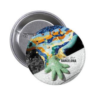 Barcelona Gaudi Park Guell Pinback Buttons