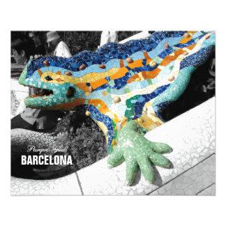 Barcelona Gaudi Park Guell Flyer