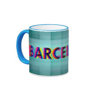Barcelona Glitch Psychedelic Mug