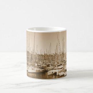 Barcelona Harbor - Sailboats - Mug