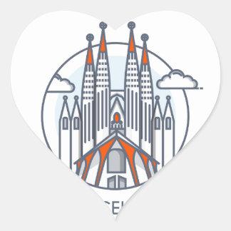 Barcelona Heart Sticker