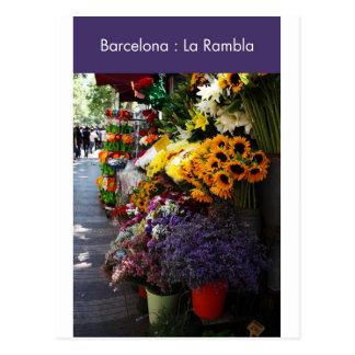 Barcelona : La Rambla Postcard