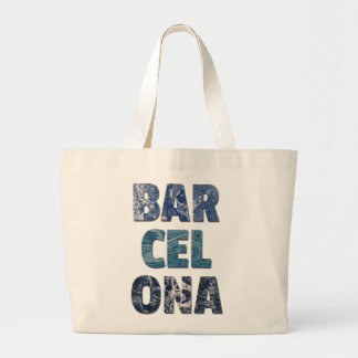 Barcelona Modernist City Jumbo Tote Bag