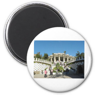 Barcelona--Parc--Guell--[kan.k] 2 Inch Round Magnet