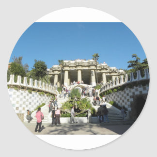Barcelona--Parc--Guell--[kan.k] Classic Round Sticker