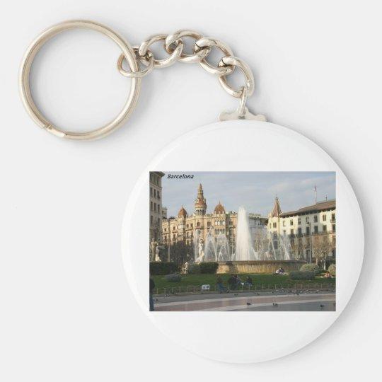 Barcelona--Plaza--Catalunya--[kan.k].JPG Keychain