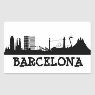 Barcelona Rectangular Sticker