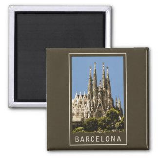 Barcelona Sagrada Familia 2 Inch Square Magnet
