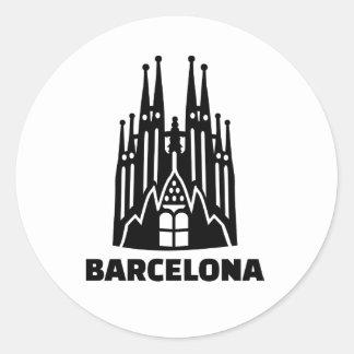Barcelona Sagrada Familia Classic Round Sticker