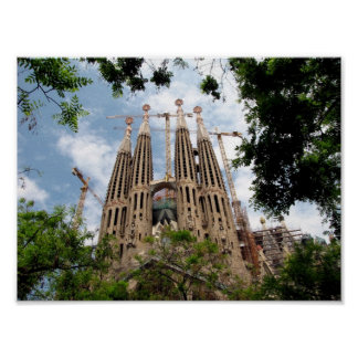 Barcelona. Sagrada Familia. Poster
