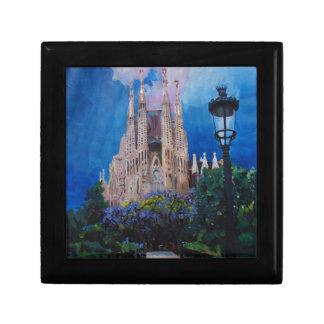 Barcelona Sagrada Familia with Park and Lantern Keepsake Boxes
