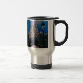 Barcelona Sagrada Familia with Park and Lantern Travel Mug