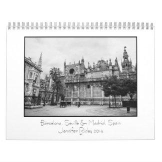 Barcelona, Seville & Madrid, Spain - 2014 Calendar